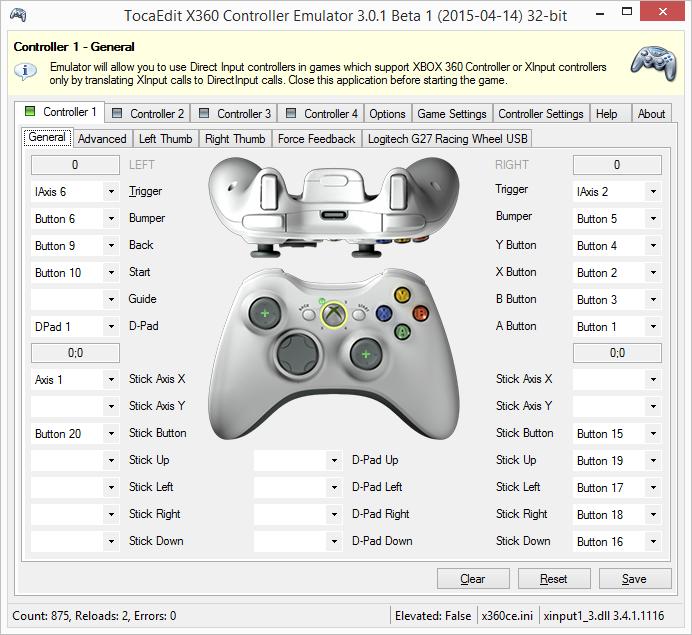 Nueva Ver. Emulador del mando Xbox 360 para pads genéricos